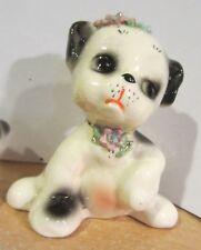 Vintage Josef Originals California Black White Spotted Puppy Dog Figurines
