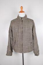 Polo Ralph Lauren Mens Harrington Jacket Houndstooth Tan Reversible XL