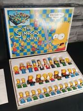 💥Vintage 1991 The Simpsons 3D Chess Game Set by Matt GroeningComplete VGC