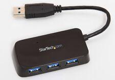 StarTech 4 Port USB 3.0 Mini Hub ST4300MINU3B 5 GBps Transfer Rate For PC & Mac