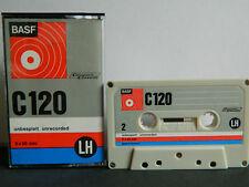 Basf LH C 120 compact cassette 1971-1973 como nuevo sin usar unbeschrifte