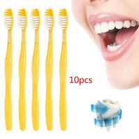 10 Set Hotel Disposable Toothbrush Set with Convenient Toothpaste Set Plastic AU