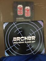 ARCHER Danger Zone Red Beer Glass Set Loot Crate GET IT FAST ~ US SHIPPER