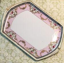 """Vintage Noritake Morimura Bros Moriage Roses Pink & Gold 11"""" Platter"""