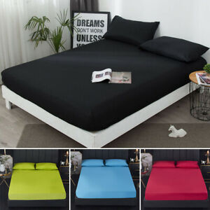 Waterproof Mattress Bed Cover Hotel Pure Color Brushed Waterproof Baby Wetting