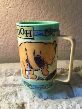 Nice! Vintage Winnie the Pooh Plastic Cup Swival Rotating Puzzle Fun
