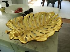 Michael Aram Monstera Leaf Gold Centerpiece