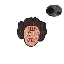 Star Wars Pin Princess Leia Self Rescuing Princess Feminist Enamel Brooch Badges