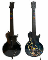 Lot of 2 Guitar Hero Gibson Les Paul PS3 Playstation 3 Wireless Black No Dongle