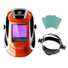 Orange Solar Auto Darkening Welding Helmet Arc Tig Mig Mask Grinding Welder