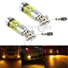 2pcs H3 3000K Amber 100W 20-SMD LED Bulbs For Car Fog Light Driving Lights DRL