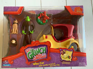Playmates Dr Seuss How the Grinch Stole Christmas Who Car W/ Sneaky Grinch & Max