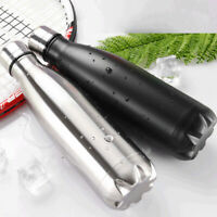 500ml Vacuum Insulated Flask Thermal Sports Chilly Water Bottle Hot / Cold BHES