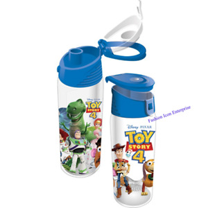 Disney Water Bottle Toy Story 4 Pals Buzz, Woody, Slinky Dog & More Flip Top