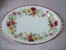 """Paragon fine Bone China England Autumn Glory Pattern 8 1/4"""" X 5 1/4"""" Oval Dish"""