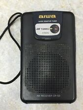 Aiwa CR-S3 AM Portable Pocket Radio - Works Great