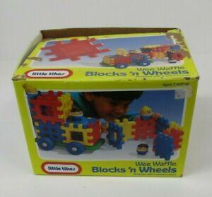 VTG Little Tikes Wee Waffle Blocks 'n Wheels 1991