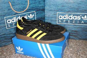 BNIB Rare Adidas Spezial Trainers Black & Yellow with Gum Sole UK Size 9