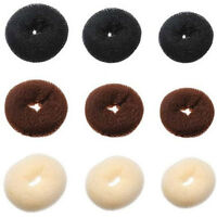 2pack FASHION HAIR BUN DONUT SHAPER RING STYLER FORMER STYLE DOUGHNUT TIE UPDO