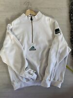 Vintage Adidas Eqt 1/4 Zip Sweatshirt Equipment 90s XL White