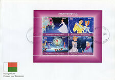 Madagascar 2018 FDC Cinderella 4v M/S Cover Disney Cartoons Stamps