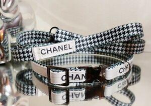 LaGucci Check Metal Buckle Dog Collar/ Leash SET Neck 12-14.5 Rt.$89 FALL IN❤ 🐕