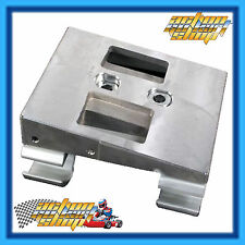 GO KART ENGINE MOUNT COMPLETE MAGNESIUM SLIDE TOP W/CLAMPS FREE HOLE DRILLING
