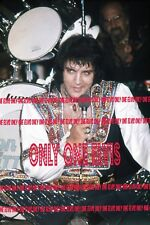 ELVIS PRESLEY in CONCERT Asheville 1975 4x6 Photo ROCKIN on STAGE Gypsy Suit