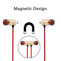 Magnet Wireless Bluetooth Sports Earphones Headset Headphones For iPhone Samsung