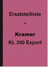 Kramer KL 350 EXPORT RICAMBIO elenco Catalogo parti di ricambio parti catalogo kl350 DIESEL