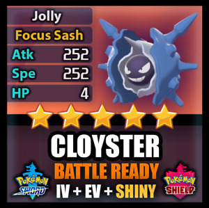 Pokemon Sword Shield 6IV SHINY Cloyster and BATTLE READY IV Competitive FAST
