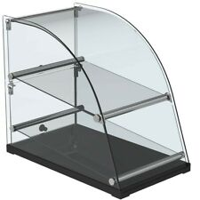 """Marchia Ca70 14"""" Deep Curved Glass Dry Countertop Display Case - 2.5 Cu. Ft."""