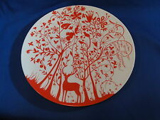 "New in box Set of 6 Table Stories 13"" Deco Plate deer Red by Tord Boontje NEW"