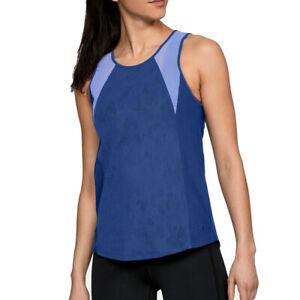 Under Armour UA HeatGear Vanish Balance Mesh Tank Blue Studio blue Running Vest