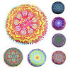 Indian Mandala Floor Pillows Round Bohemian Cushion Pillows Cover Case Cushion