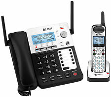 AT&T SB67138 4 Line Corded Cordless Intercom Paging Music On Hold Phone System