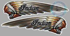 2 x STICKER INDIAN INDIEN COTE GAUCHE ET DROIT AUTOCOLLANT MOTO IA138