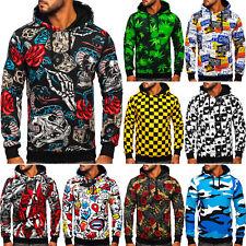 Sweatshirt Kapuzenpullover Pulli Hoodie Pullover Print Herren Mix BOLF Aufdruck
