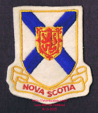LMH PATCH Woven Badge  CANADIAN Crest  NOVA SCOTIA Flag  COAT ARMS Canada Emblem