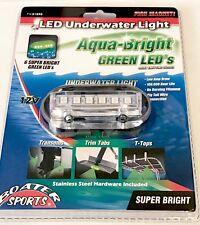 GREEN UNDERWATER LED BOAT LIGHT, 6 LEDS,  600 LUMENS