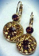 Pendientes Pendiente metal con Cristal Estilo Antiguo Marrón Amarillo