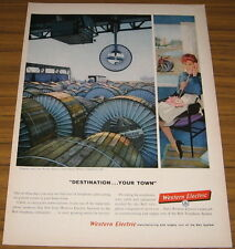 1959 Vintage Ad  Western Electric Shipping Cable Point Breeze Wor