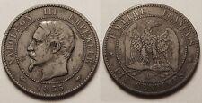 Napoléon III, 10 Centimes 1855 A Paris, ancre, TB+ !!