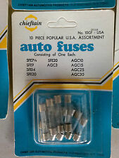 5 packages of Cheiftain fuses 10 assorted in a Package