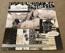 DCWV Decor Noir Paper Stack 12x12 Black White Love