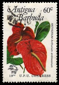 "ANTIGUA 757 (SG837) - UPU Congress ""Anthurium Flowers"" (pa84499)"