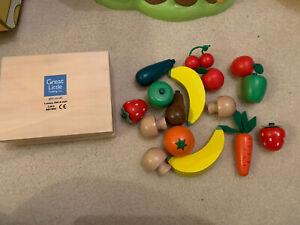 Great Little Trading Company (GLTC) Wooden Fruit & Veg Play Food