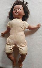american character doll dark hair blinking eyes cloth body 1950's