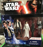 "Star Wars Han Solo Princess Leia Toy 3.5"" Figure B3961/B3955"