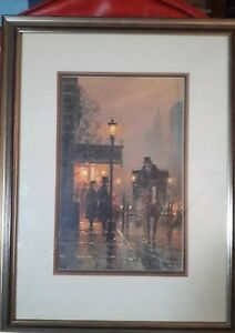 """G. Harvey Discussing the Fare 874/1250 With COA GOLD FRAME  19"""" X 24"""""""